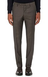 Incotex Women's S Wool Cashmere Twill Trousers Brown