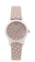 Kate Spade Metro Mini Polka Dot Strap Watch Grey Silver