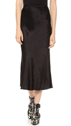 Jason Wu Bias Cut Midi Skirt Black