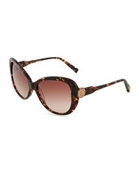 Jason Wu Natalie Owl Detailed Cat Eye Sunglasses Tortoise