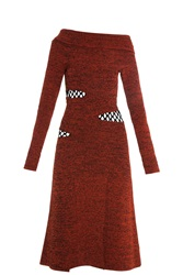 Proenza Schouler Open Knit Dress Red