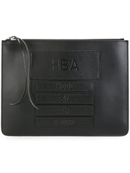 Hood By Air Embossed Logo Clutch Black