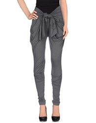 Minimal Trousers Casual Trousers Women Grey