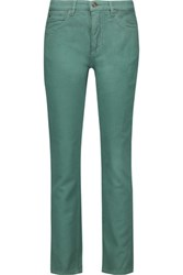 See By Chloe Cotton Corduroy Skinny Pants Leaf Green