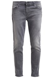 7 For All Mankind Josefina Relaxed Fit Jeans Grey Denim