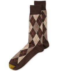 Gold Toe Men's Socks Village Argyle Single Pack Brown