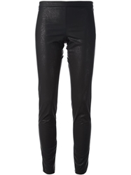 Nude Faux Leather Skinny Trousers Black