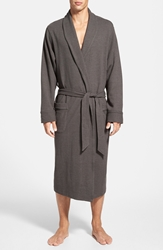 Nordstrom Thermal Knit Robe Charcoal Heather