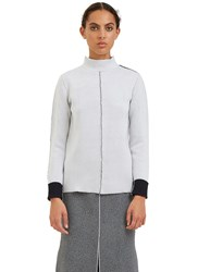 Hockin Double Faced External Seam Sweater White