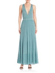 Missoni Pleated Knit Gown Blue