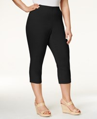 Styleandco. Style And Co. Plus Size Capri Pants Only At Macy's Deep Black