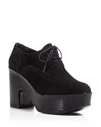 Robert Clergerie Voel Platform Oxford Booties Black