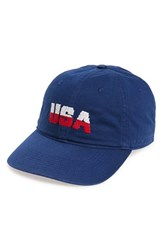 Smathers And Branson Men's 'Usa' Baseball Cap Blue Navy