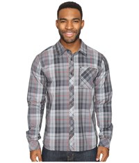 Smartwool Summit County Plaid Long Sleeve Top Charcoal Men's Clothing Gray
