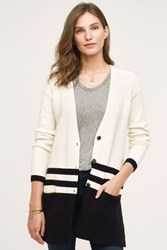 Anthropologie Varsity Cardigan Black And White