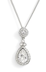 Women's Givenchy Crystal Teardrop Pendant Necklace