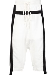 Lost And Found Stripe Drawstring Shorts White