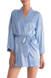 In Bloom By Jonquil Women's Short Robe Periwinkle