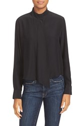 Frame Women's Crop Silk Blouse