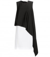 Vanessa Bruno Two Tone Asymmetrical Draped Dress Black