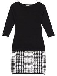 Precis Petite Lacy Houndstooth Dress Black