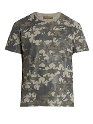 Valentino Camustars Print Cotton T Shirt Grey