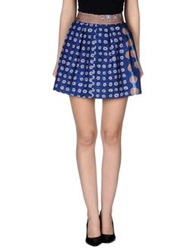 Alysi Mini Skirts Dark Blue