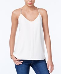 Bar Iii Satin Detail Racerback Camisole Only At Macy's Egret