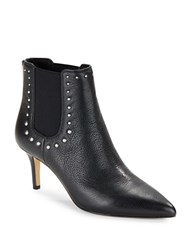 424 Fifth Dyllon Studded Leather Booties Black
