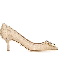 Dolce And Gabbana 'Bellucci' Pumps Nude And Neutrals