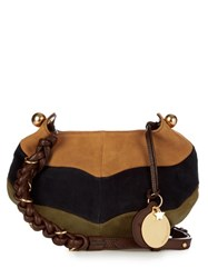 See By Chloe Madie Multicoloured Suede Cross Body Bag Navy Multi