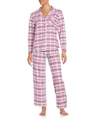 Karen Neuburger Cotton Blend Pajama Set Red Plaid