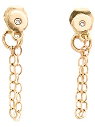 Melissa Joy Manning Chain Wrap Post Earring Metallic