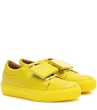 Acne Studios Adriana Turnup Leather Sneakers Yellow