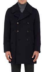 Sealup Men's Cashmere Double Breasted Peacoat Navy