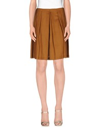 Soallure Skirts Knee Length Skirts Women Brown