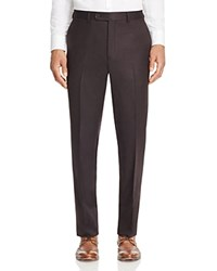 Jack Victor Loro Piana Stretch Flannel Classic Fit Trousers 100 Bloomingdale's Exclusive Chocolate