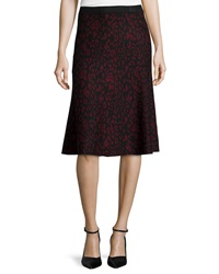 Chelsea And Theodore Jacquard A Line Midi Skirt Black Zoe