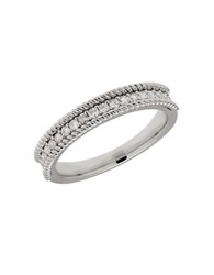 Lord And Taylor 14K White Gold Rope Edge Ring