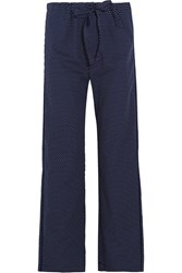 Araks Ally Polka Dot Cotton Poplin Pajama Pants Midnight Blue