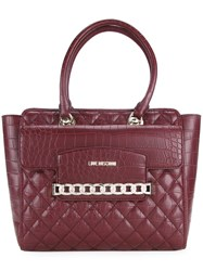 Love Moschino Chain Trim Tote Red
