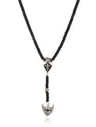 Cantini Mc Firenze Fleur De Lis Beaded Drop Necklace