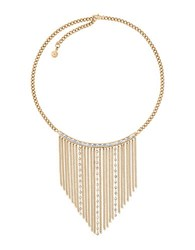 Michael Kors Cubic Zirconia And Crystal Tie Affair Bib Necklace Gold