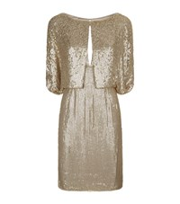 Jenny Packham Sequin Cape Dress Female Gold