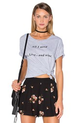 Amuse Society Blab Out Loud Tee Gray