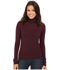 Pendleton Classic Turtleneck Sweater Zinfandel Women's Long Sleeve Pullover Brown