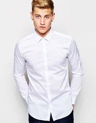 New Look Long Sleeved Skinny Fit Shirt White