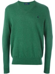 Polo Ralph Lauren V Neck Sweater Green