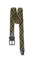 Andersons Multicolor Stretch Woven Belt Black Neon