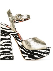Charlotte Olympia 'Wild At Heart' Sandals Metallic